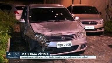Motorista de aplicativo é metralhado em Guadalupe - Caso aconteceu na noite de quinta (06). Motorista não obedeceu ordem de parada de traficantes, que atiraram várias vezes.