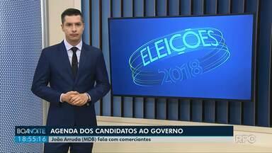 Veja o que os candidatos ao governo do Paraná fizeram no feriado - Acompanhe a agenda dos candidatos.