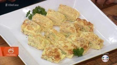 Aprenda a fazer omelete oriental - Delícia foi adaptada para o paladar brasileiro pois o original da omelete japonesa tem gosto adocicado