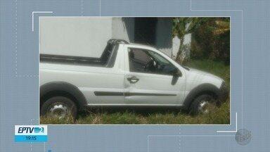 Carro usado por suspeito de matar cunhado atropelado é apreendido em Extrema, MG - Carro usado por suspeito de matar cunhado atropelado é apreendido em Extrema, MG