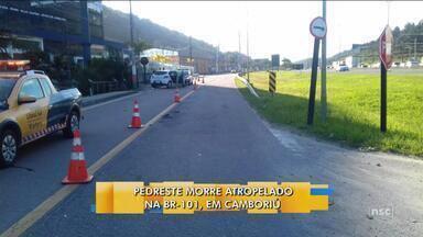Pedestre morre atropelado na BR-101 em Balneário Camboriú - Pedestre morre atropelado na BR-101 em Balneário Camboriú
