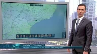 Confira a agenda dos candidatos ao governo de São Paulo nesta segunda (10) - Veja quais foram os compromissos de campanha para dos candidatos ao governo do estado de São Paulo nesta segunda-feira (10).