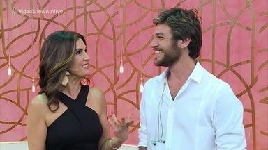 'Vídeo Show' mostra a gravação do encontro de Beto Falcão com Fátima Bernardes - Apresentadora confessa nervosismo ao gravar a cena com Emílio Dantas