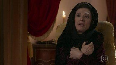 Darcy, Elisabeta e Baltazar se surpreendem com o estado de Lady Margareth - Elisabeta acredita que tudo não passa de fingimento