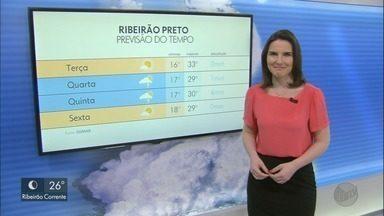 Veja a previsão do tempo para esta terça-feira (10) na região de Ribeirão Preto - O dia promete ter temperatura na casa dos 30°C.