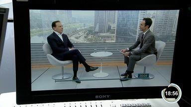 João Doria foi entrevistado no estúdio da Rede Globo nesta quarta-feira - Veja o dia dos candidatos na corrida ao governo de SP.