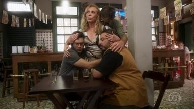Naná decide se mudar para a casa de Nestor - Ela se explica para Dodô, que afirma que não perdoará a esposa. Beto, Ionan e Clóvis choram a perda de Remy e a situação de sua família. Dodô incentiva Beto a se reerguer