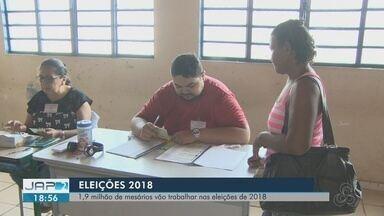 Cerca de 1,9 milhão de mesários devem trabalhar no primeiro turno das Eleições 2018 - Na Região Norte serão 286 mil, segundo o TSE. Um dado curioso é que mais da metade dos colaboradores se apresentaram de livre e espontânea vontade. Junto com Acre, Amapá deve ter o menor número de mesários do país.
