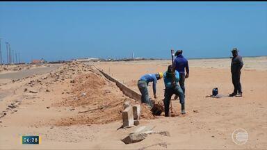 Situação da praia de Pedra do Sal causa tristeza e decepção em moradores e turistas - Situação da praia de Pedra do Sal causa tristeza e decepção em moradores e turistas
