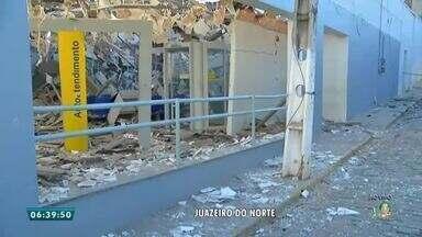 Confira mais detalhes sobre explosão em banco de Farias Brito - Saiba mais em g1.com.br/ce