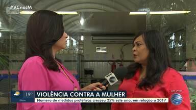 Número de ações relacionadas à violência contra a mulher cresce na Bahia - O número de medidas protetivas cresceu 25% este ano, em relação a 2017