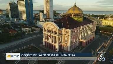 Confira opções de lazer para esta quinta (13) - Haverá apresentação com entrada gratuita no Teatro Amazonas.