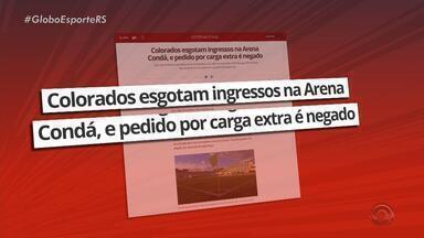 Torcida colorada esgota os ingressos para o jogo contra a Chapecoense na Arena Condá - Partida do Campeonato Brasileiro acontece na próxima segunda-feira (17).