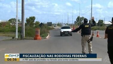 PRF está de prontidão no feriado pra evitar acidentes nas rodovias, no AP - Preocupação maior é no fim de semana, onde terá o festival do abacaxi no município de Porto Grande