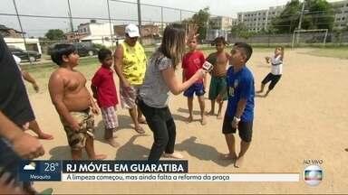 O RJ Móvel dessa sexta-feira foi em Guaratiba - Moradores querem a reforma de uma praça na Morada do Magarça