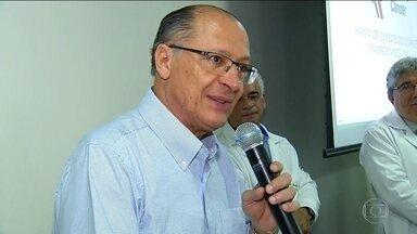 Candidato do PSDB, Geraldo Alckmin, faz campanha no Amapá e no Rio Grande do Norte - Jornal Nacional mostra como foram as atividades de campanha de candidatos à presidência nesta sexta-feira (14).