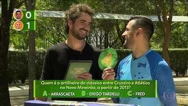 Robinho e Fábio Santos participam de quiz sobre clássico mineiro Cruzeiro e Atlético-MG - Robinho e Fábio Santos participam de quiz sobre clássico mineiro Cruzeiro e Atlético-MG