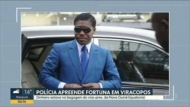 Vice da Guiné Equatorial volta para África sem dinheiro e joais apreendidos pela PF - Polícia Federal apreendeu mais de 16 milhões de dólares em dinheiro e relógios na bagagem do vice-presidente do país.