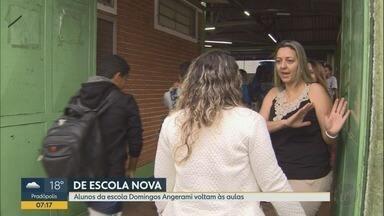 Alunos de escola interditada são transferidos a novo colégio em Ribeirão Preto - Estudantes do bairro Ribeirão Verde voltam às aulas nesta segunda-feira (17) na unidade do Sesi nos Campos Elíseos.