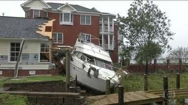 Furacão vira tempestade e provoca enchentes históricas nos EUA - O Florence agora é uma depressão tropical com ventos de 60km/h. 15 pessoas morreram e 800 mil casas e lojas estão sem energia.