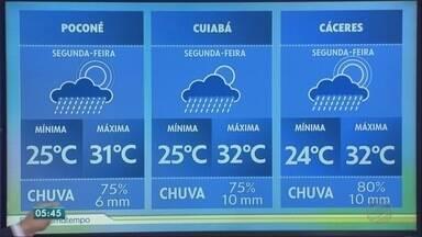 Fim de semana teve chuva em vários municípios - Fim de semana teve chuva em vários municípios