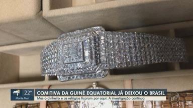 Receita Federal investiga apreensão de dólares e relógios de comitiva da Guiné Equatorial - Membros de uma comitiva da Guiné Equatorial chegou em aeronave do governo ao aeroporto Viracopos, em Campinas (SP), mas não estava em missão oficial.