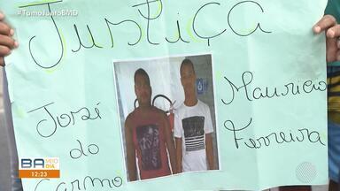 Protesto fecha parte da Av. Suburbana na manhã desta segunda-feira (17) - Parentes de José do Carmo e Maurício Ferreira ocuparam uma das pistas; confira.