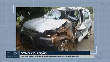 Inspetor da PRF em Uberlândia comenta sobre perigos de acidentes causados por sono - Dados da Polícia Rodoviária Federal apontam que no primeiro semestre de 2018, em Minas Gerais, 32 pessoas morreram e 417 ficaram feridas nas estradas.