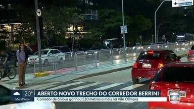 Corredor Berrini ficou maior nesta segunda-feira - São mais 530 metros no corredor de ônibus na Zona Sul da Capital