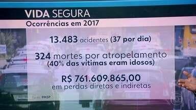 37 acidentes foram registrados por dia nas ruas da Capital, em 2017 - Plataforma com dados foi lançada pela Prefeitura de São Paulo para marcar a semana da mobilidade. Acidentes custaram 762 milhões de reais aos cofres públicos no ano passado.