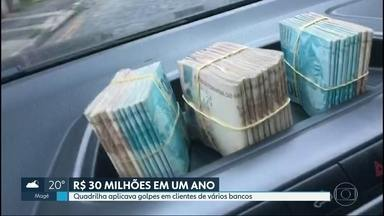 Presa quadrilha que aplicava golpes milionários em clientes de vários bancos pelo país - Em um ano, a quadrilha chegou a movimentar mais de R$ 30 milhões. Um cantor sertanejo é apontado como um dos líderes do grupo