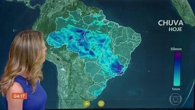 Meteorologia prevê chuva no Espírito Santo nesta terça-feira - No Centro-Oeste, onde choveu bastante há alguns dias, agora a chuva começa a dar uma trégua. Confira como fica o tempo em todo o país.