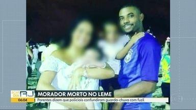 Ação da PM no Morro Chapéu-Mangueira termina com um homem morto - Rodrigo foi morto na noite desta segunda-feira (17). Parentes suspeitam que policiais tenham confundido o guarda-chuva com arma.