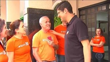 Rogerio Chequer (Novo) faz campanha no interior de SP - Rogerio Chequer, candidato do Novo ao governo de SP, esteve em cidades do Noroeste e Centro do estado.