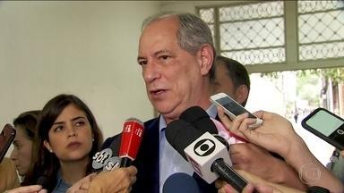 Candidato do PDT, Ciro Gomes, faz campanha em São Paulo - Jornal Nacional mostra como foram as atividades de campanha de candidatos à presidência nesta terça-feira (18).