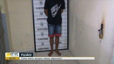Menor detido após roubo em shopping foge, em São Mateus, ES - Ele havia sido liberado do Iases e foi pego em outro crime.