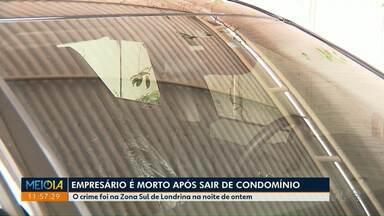 Empresário é vítima de latrocínio em Londrina - O crime foi na Zona Sul da cidade na noite de ontem