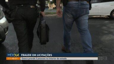Cinco pessoas são presas em operação contra fraude em licitações, no norte do estado - Entre os presos estão três funcionários da prefeitura de Alvorada do Sul.