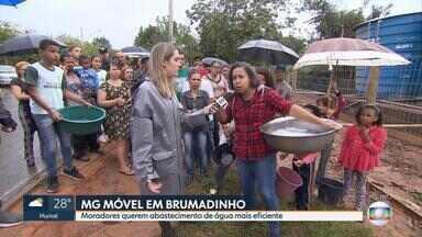 MG Móvel: Moradores do distrito de Casa Branca sofrem com falta de água - Equipe está pela primeira vez na localidade de Brumadinho. O abastecimento é insuficiente.