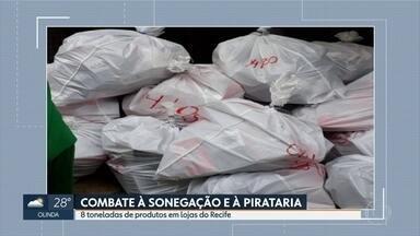 Operação da Polícia Federal apreende mercadorias em Caruaru - Ação busca combater venda de produtos contrabandeados e falsificados.