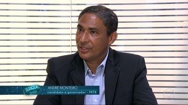André Monteiro (PRTB) é entrevistado pelo RJ1 - O candidato ao governo do estado do Rio de Janeiro foi entrevistado pelo RJ1.