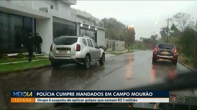 Polícia cumpre mandados contra pessoas que estariam aplicando golpes em Campo Mourão - Vítimas dos golpes perderam cerca de R$ 1 milhão