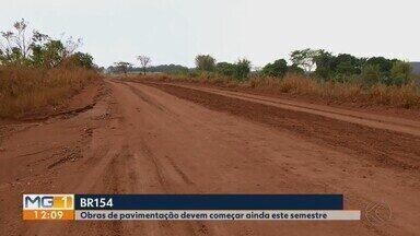 Após anos de complicações, obras na BR-154 entre Ituiutaba e Campina Verde são retomadas - Trabalhos começaram em 2014 e foram adiados diversas vezes. Contrato com uma nova empreiteira foi assinado no dia 15 de setembro deste ano.