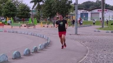 Corredor tem história de amor com corrida Eu Amo Recife - Corredor tem história de amor com corrida Eu Amo Recife