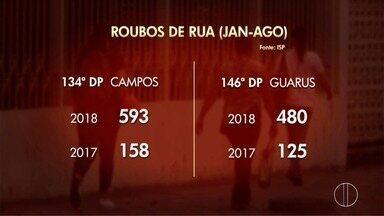 PM vai ampliar o policiamento à pé em Campos, no RJ - Assista a seguir.