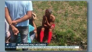 Romário faz acordo com vítima de acidente de trânsito no Rio - Candidato ao governo vai pagar R$ 50 mil. No ano passado, carro onde o senador estava atropelou um motociclista.