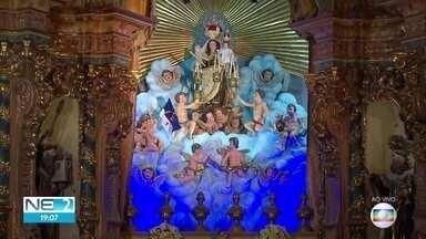 Imagem de Nossa Senhora do Carmo termina de ser restaurada no Recife - Símbolo da padroeira começou a ser restaurada em fevereiro de 2018.