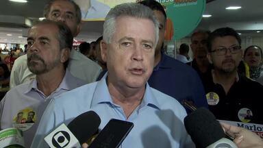 Rodrigo Rollemberg (PSB) caminhou na Rodoviária do Plano Piloto - O candidato disse que, se for reeleito, pretende agilizar a reforma da Rodoviária, sem prejudicar o comércio.