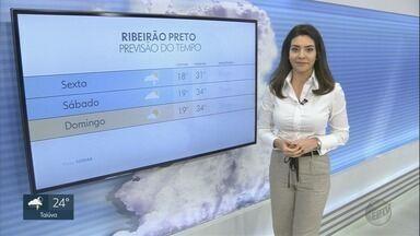 Veja a previsão do tempo para esta sexta-feira (20) na região de Ribeirão Preto, SP - Há possibilidades de pancadas de chuva em áreas isoladas.