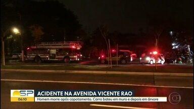 Homem morrem em acidente na Zona Sul de SP - Carro capotou após bater em árvore.